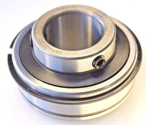 "Premium SER207-20 Insert Bearing 1-1/4"" Bore w/Snap Ring & Set Screws Re-lube"
