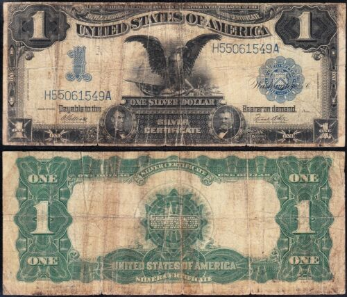 Circulated 1899 $1 BLACK EAGLE Silver Certificate! FREE SHIPPING! H55061549A