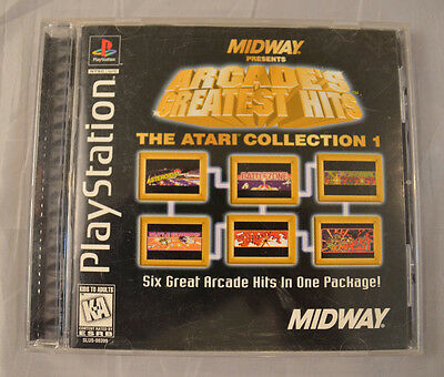 Midway Arcade's Atari Collection 1 Sony Playstation PS1 Complete Black Label CIB ()