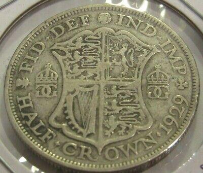 1929 British Half Crown 50% Silver Coin - Great Britain