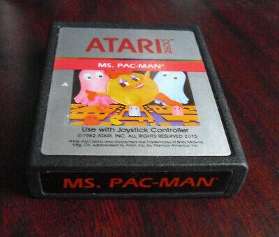 Vintage 1982 Atari 2600 Ms. Pac-Man Video Game Cartridge