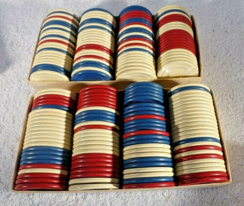 2 BOXES STACKWELL ASSORTED  POKER CHIPS