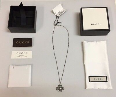 NEW!! Women's Gucci Silver and Pearl Necklace, Pendent with Box, Papers and Tags