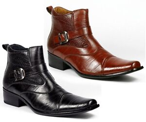Delli-Aldo-Men-039-s-Dress-Ankle-Boots-Shoes-Styled-in-Italy-w-Leather-Lining