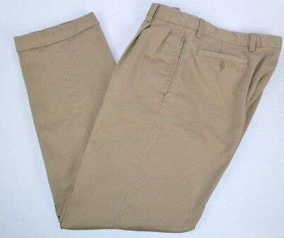 Nautica Rigger Men's Pleated Khaki Pants Chinos, Cuffed Leg Classic Fit 32x32