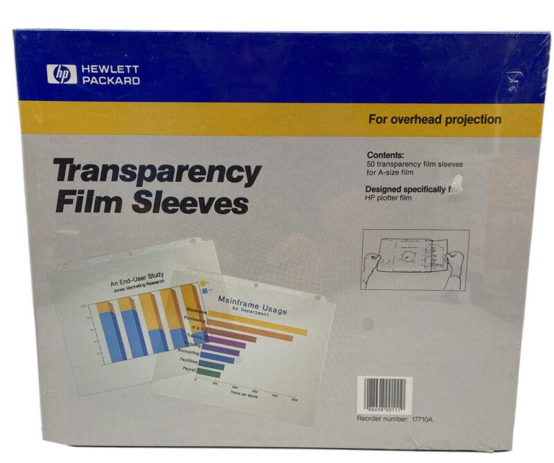 """Hewlett Packard Transparency Plotter Film 8 1/2 x 11 A Size 50 11"""" 17710A"""