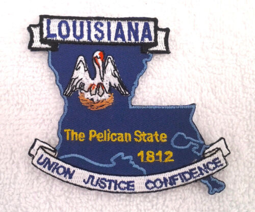 LOUISIANA STATE MAP Biker Patch PM6719 EE