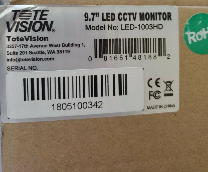 "Tote Vision - 9.7"" LED CCTV Monitor (LED-1003HD)"