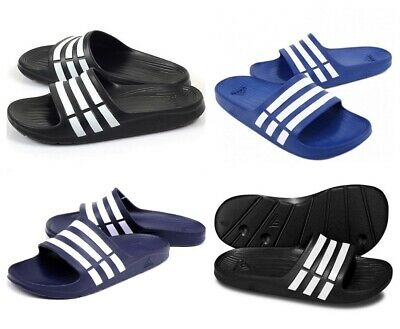 Adidas Duramo Slides Mens Sliders Flip Flops Slippers Beach Summer Pool Shoes
