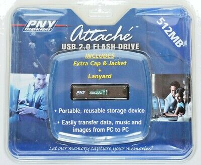 Brand New PNY attache 512mb usb flash drive Sealed in original package Attach ? Usb 20 Flash Drive