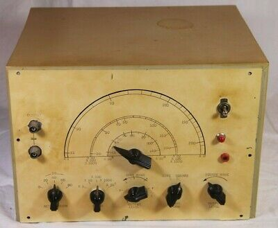 Vintage Diy Kit Sine Square Wave Function Frequency Generator Vacuum Tube