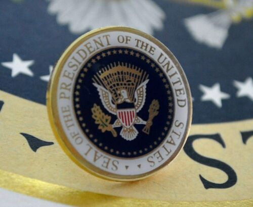 REAGAN PRESIDENTIAL SEAL LAPEL PIN~SIGNED~FULL COLOR PRESIDENTIAL SEAL SERIES