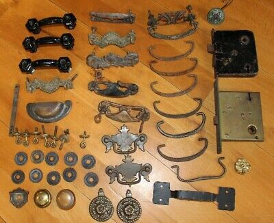 Antique Furniture Hardware Large Mixed Lot