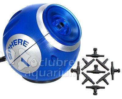Sphere One Aquarium Air Pump 10 Gallon Internal Deep Blue LED Light Air Control