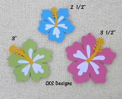 Die Cut HIBISCUS FLOWERS Luau Tiki Hawaii Party Scrapbook Paper Piecing CKS - Hawaii Scrapbook Die Cut