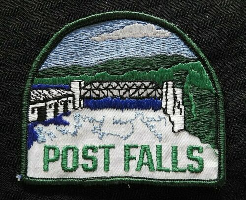 """c1970 """"POST FALLS POLICE DEPARTMENT"""" ID IDAHO NOT STATE OR SHERIFF PATCH SPOKANE"""