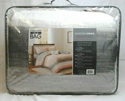 Madison Park Essentials Saben Complete Comforter Cotton Sheet Bed in Bag Twin (Madison Twin Comforter)