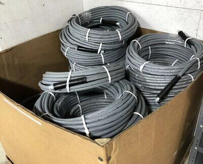 Grey 7615 Psi Fierce Jet Extreme Pressure Washer Washing Hose - 2 Wire 100 Ft