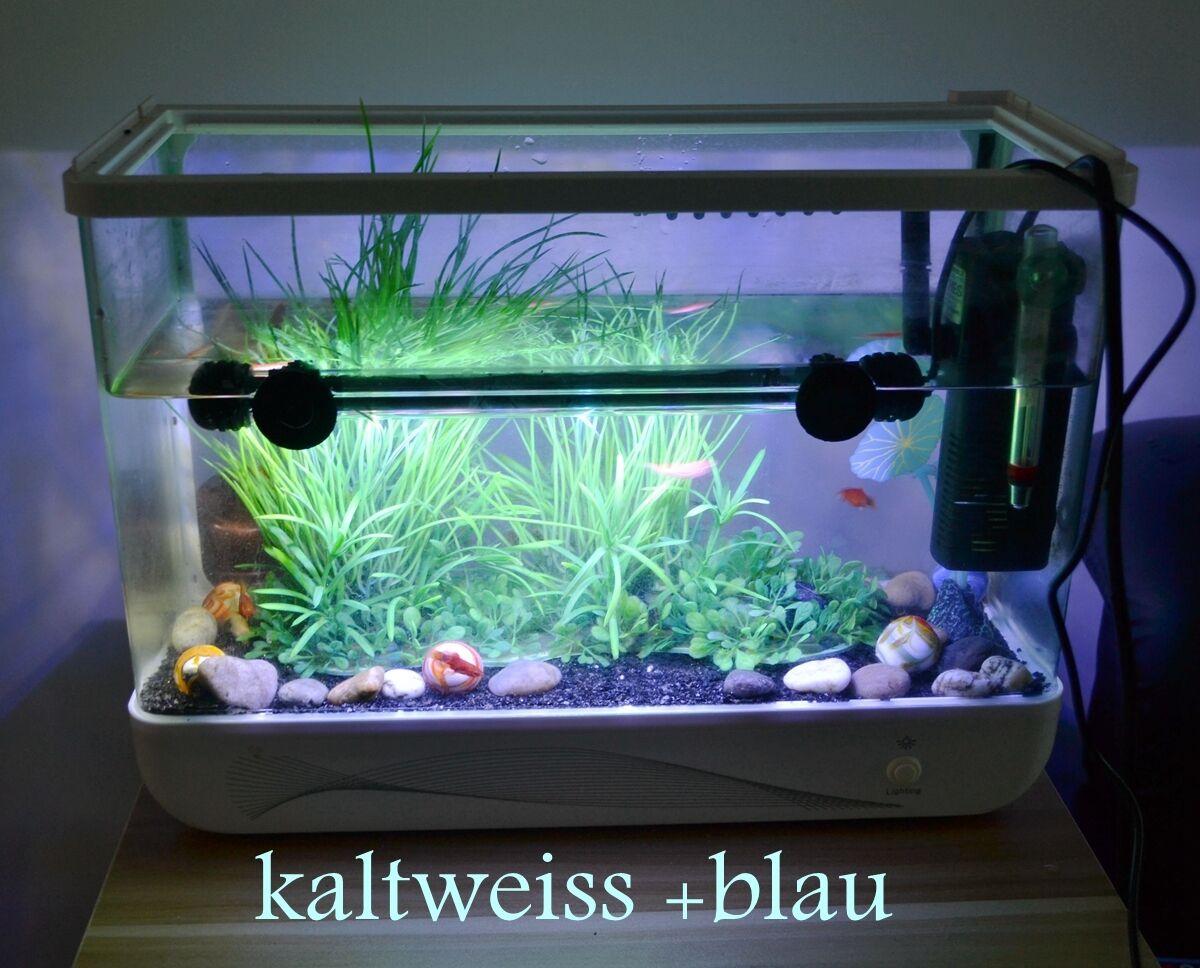 aquarium beleuchtung led kaltweiss blau rgb fernbedienung wasserdicht lampe eur 13 99. Black Bedroom Furniture Sets. Home Design Ideas