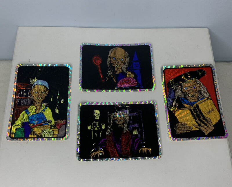 Tales From the Crypt Stickers 90s Horror Decal Crypt Keeper Lot Of 4 Stickers