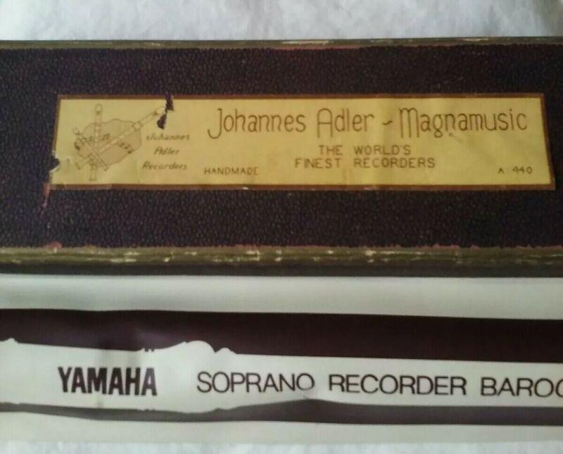 Johannes Adler C-Soprano Model #1820 german Fingering Recorder + yamaha japan