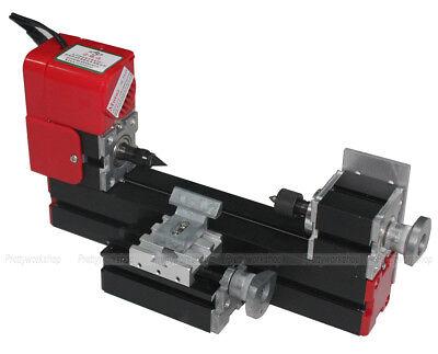 Metal Mini Woodturning Lathe Machine Diy Model Metalworking Woodworking Tools