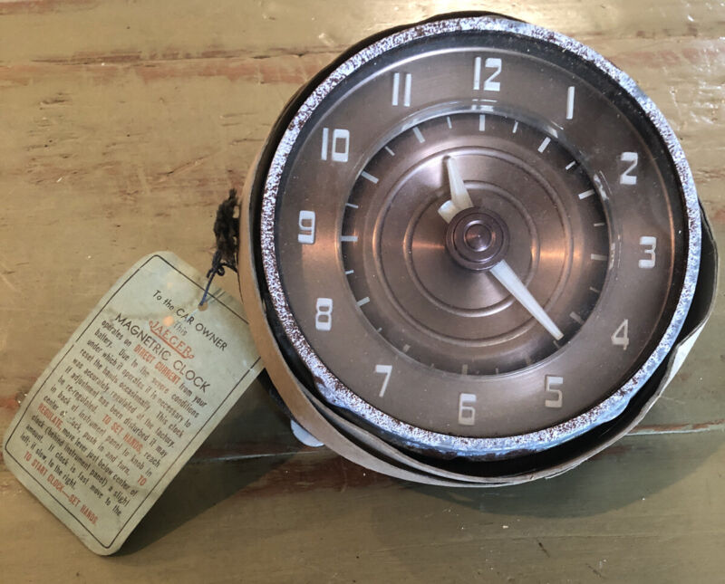 Jaeger Watch Co. NY Magnetric Automobile Dash Car Clock Original Tag 1950s