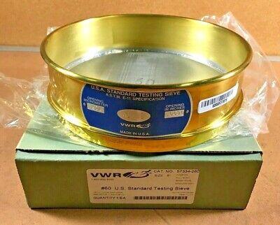 U.s. Standard Testing Sieve Vwr 60 Brass Stainless