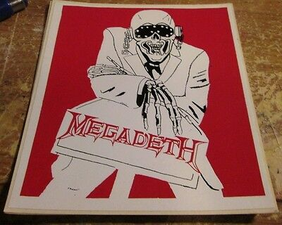 MEGADETH STICKER COLLECTIBLE RARE VINTAGE 90'S METAL VIC