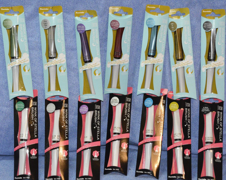 zig kuratake brush marker: wink of stella-glitter
