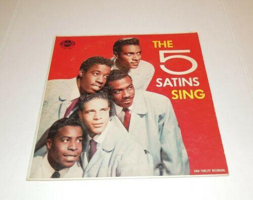 Vintage Vinyl LP - The 5 Satins Sing - Ember Records High Fidelity ELP 100