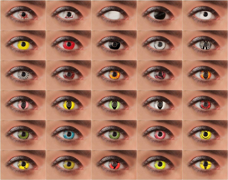Crazy Motivlinsen farbige Kontaktlinsen Halloween Fasching Karneval Party Beast
