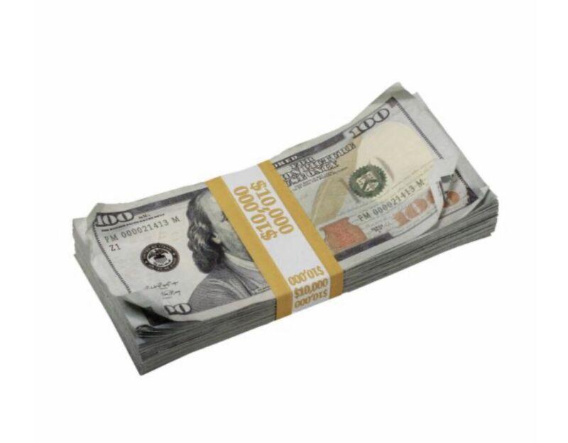 New style Prop Money 10k Bundle Film Making Photoshoots Pranks