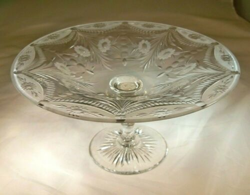 """PAIRPOINT CRYSTAL WICKHAM CUTTING #133 4-1/2"""" TALL SWEETS COMPORT or TAZZA!"""