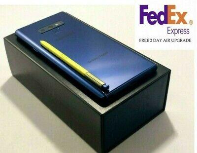 SAMSUNG GALAXY NOTE 9 SM-N960U 128GB BLUE VERIZON UNLOCKED  FREE FED EX 2-DAY