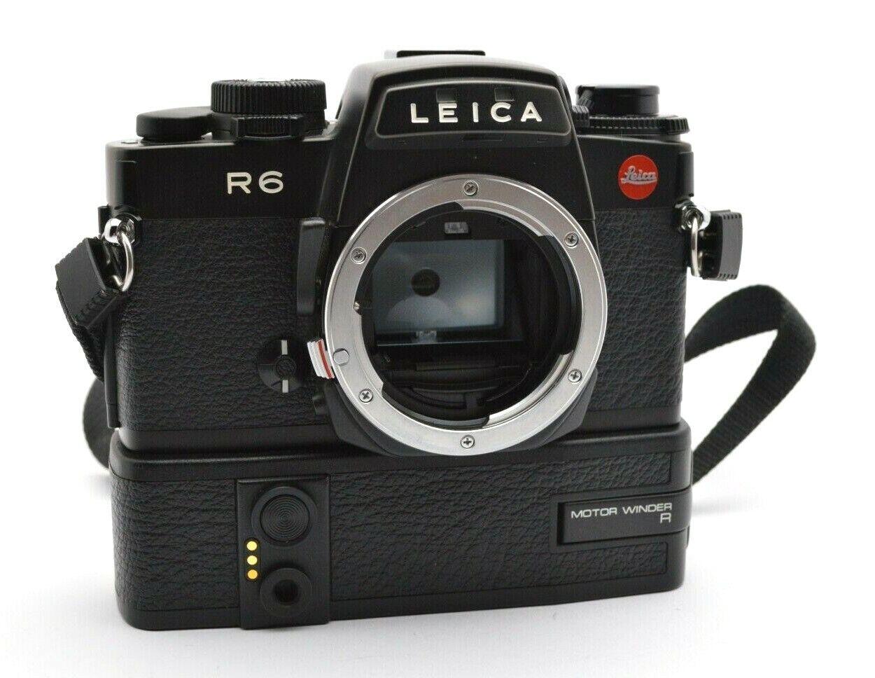Leitz Leica R6 Analog Kamera Spiegelreflex Camera Body, Motor Winder Griff g58