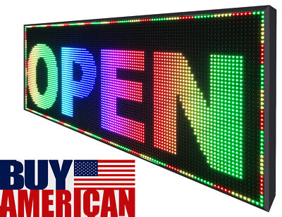 25 X 38 Full Color Window Indooroutdoor Text Display Led Great Business Sign