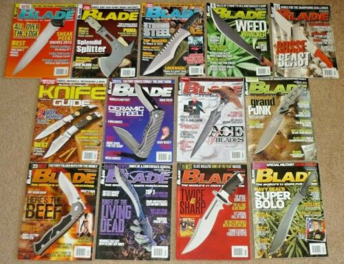 13 BLADE Magazines Knives Complete Year 2012 Vol. 39 Issue 1-13 Uncirculated NOS