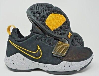77b549c3a5d3 Nike PG 1 Paul George Mens Basketball Shoe Black University Gold Multi Size