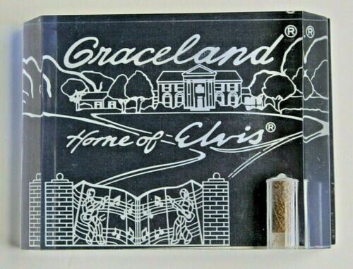 Elvis Presley - GRACELAND HOME OF ELVIS Souvenir Soil with COA