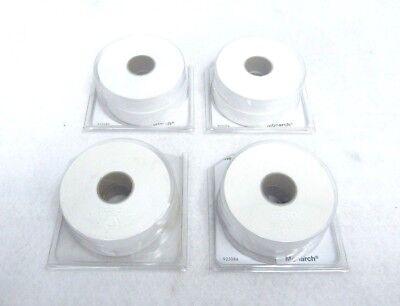 Lot Of 4 Monarch 1136 925084 White 2 Line Price Sticker Labels P2
