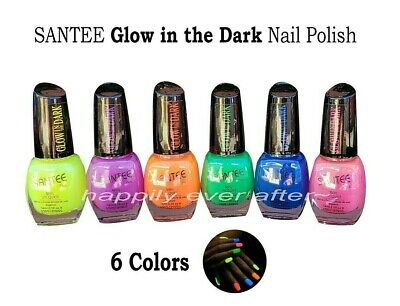Santee Glow in the Dark Nail Polish - All 6 Colors, Full Size *US Seller*