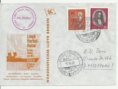 NDL Sonderumschlag SU017  Lloyd Herbstreise 15.10.1966 Letzttag (DS)