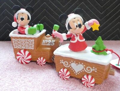 HALLMARK DISNEY CHRISTMAS EXPRESS TRAIN PCS WITH MUSIC AND MOTION NEW WITH TAGS  ()