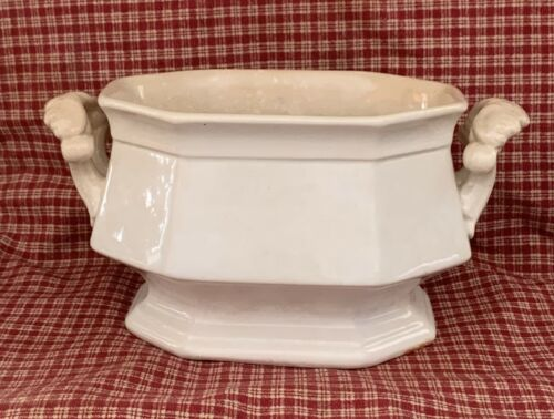 Antique English Ironstone Small Tureen Made by Alcock from their Imperial Series