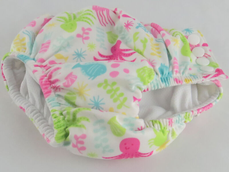 Swim Diaper I-Play Baby Girls Snap Reusable Absorbent Swimsuit Diaper 18 Months