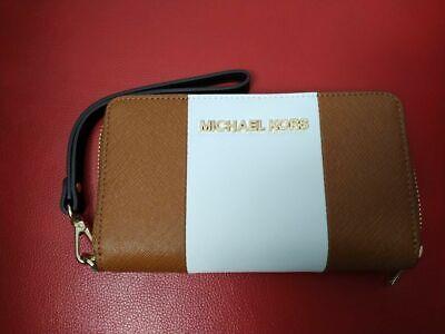 Genuine MICHAEL KORS NEW Multifunction Wallet Leather Zip Around RRP £99.95