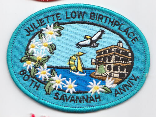 Juliette Low Birthplace 80th Anniversary~Girl Scout Fun Patch Badge~20191122A