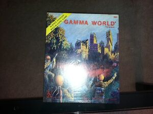 TSR -Gamma World RPG (1978) ULTRA RARE 1st PRINT (SHRINK) LIZARD LOGO