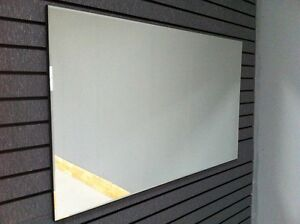 120cm x 60cm Large Modern Rectangular Plain Bevel Panel Wall Hung Mirror